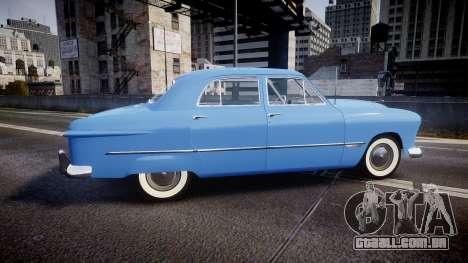 Ford Custom Fordor 1949 v2.1 para GTA 4 esquerda vista