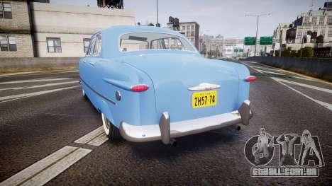 Ford Custom Fordor 1949 v2.1 para GTA 4 traseira esquerda vista