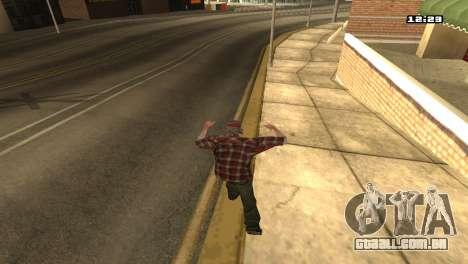 Misto de estilos de luta para GTA San Andreas por diante tela