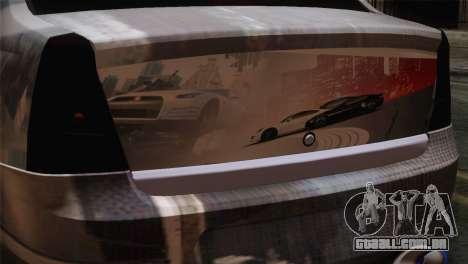 Dacia Logan Most Wanted Edition v3 para GTA San Andreas vista traseira