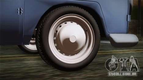 Volkswagen T1 Short para GTA San Andreas traseira esquerda vista