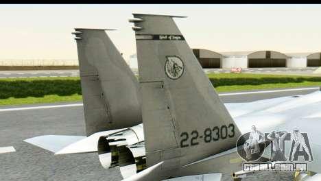 F-15J Mitsubishi Heavy Industries para GTA San Andreas traseira esquerda vista