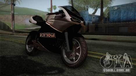 GTA 5 Bati Police para GTA San Andreas vista traseira