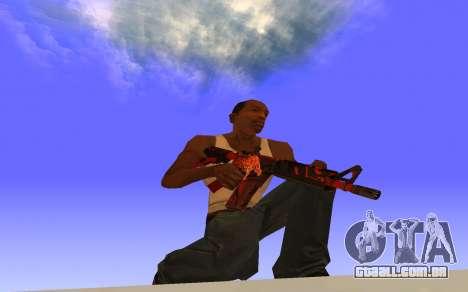 M4A4 Вой CS:GO para GTA San Andreas segunda tela