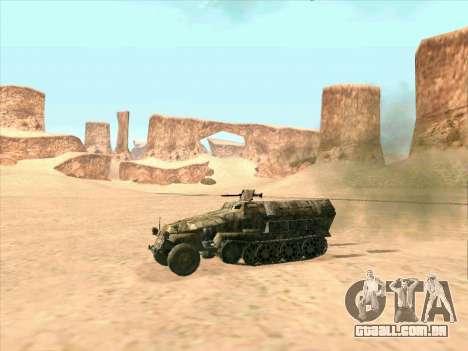 Sd Kfz 251 Da Camuflagem Do Deserto para GTA San Andreas