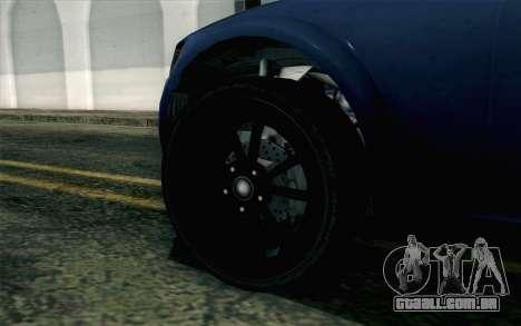GTA 5 Cheval Fugitive HQLM para GTA San Andreas traseira esquerda vista