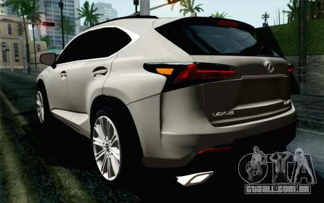 Lexus NX 200T v5 para GTA San Andreas esquerda vista