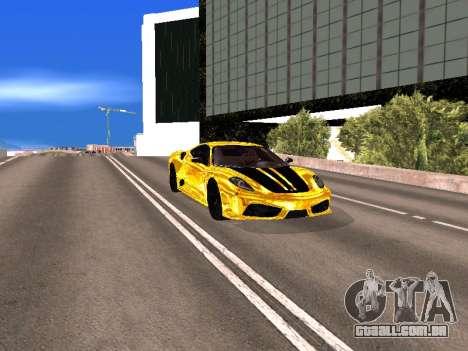 Ferrari F430 para GTA San Andreas vista superior