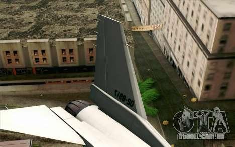 Mitsubishi F-2 Original JASDF Skin para GTA San Andreas traseira esquerda vista