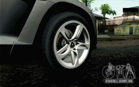 Lamborghini Urus Concept para GTA San Andreas traseira esquerda vista