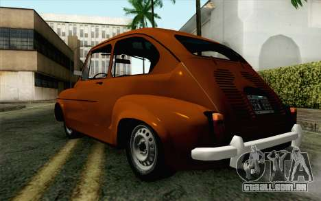 Fiat 600 para GTA San Andreas esquerda vista