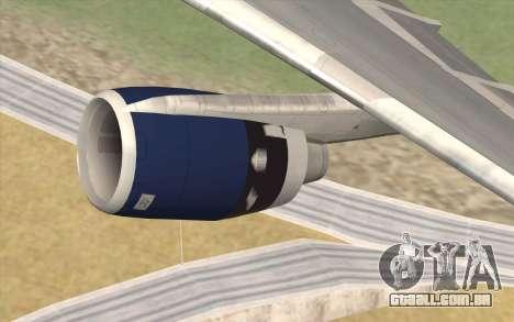 Lookheed L-1011 British Airways para GTA San Andreas vista direita
