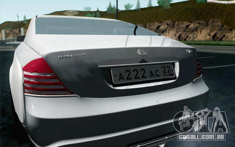 Maybach 57S Coupe Xenatec para GTA San Andreas vista direita