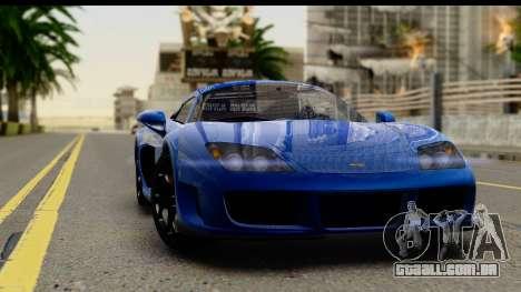 Noble M600 2010 FIV АПП para GTA San Andreas vista interior