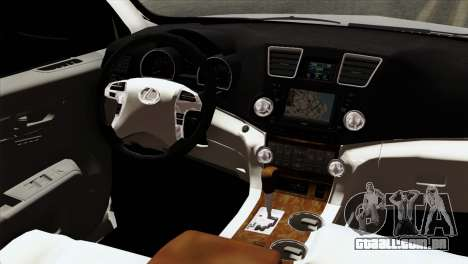 Lexus RX350 2009 para GTA San Andreas vista traseira