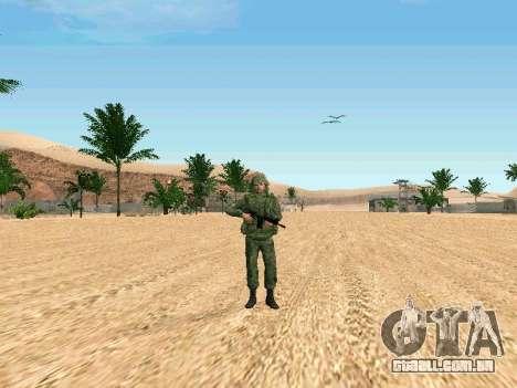 O militar russo está em uma nova forma para GTA San Andreas terceira tela