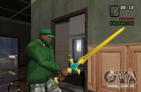 Santo Espada Excalibur para GTA San Andreas