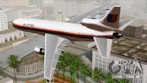 Lookheed L-1011 United Als para GTA San Andreas esquerda vista