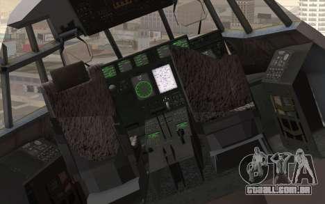 C-130H Hercules RAF para GTA San Andreas vista traseira