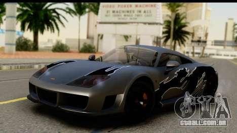 Noble M600 2010 FIV АПП para vista lateral GTA San Andreas