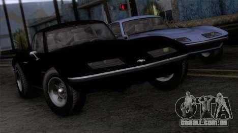 GTA 5 Invetero Coquette Classic HT IVF para GTA San Andreas vista traseira