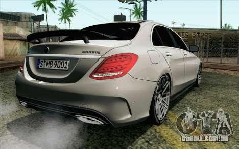 Mercedes-Benz C250 AMG Brabus Biturbo Edition EU para GTA San Andreas esquerda vista