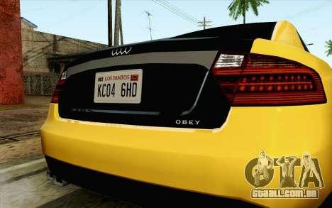GTA 5 Karin Kuruma v2 IVF para GTA San Andreas vista direita