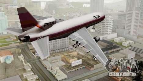 Lookheed L-1011 PSA para GTA San Andreas esquerda vista