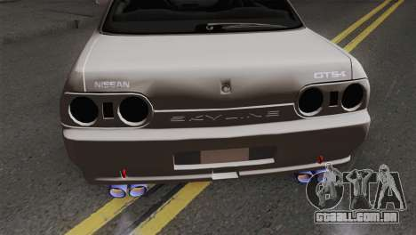 Nissan Skyline R32 Drift JDM para GTA San Andreas vista traseira
