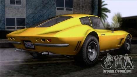 GTA 5 Invetero Coquette Classic HT IVF para GTA San Andreas esquerda vista