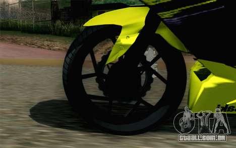 Kawasaki Ninja 250RR Mono Yellow para GTA San Andreas traseira esquerda vista
