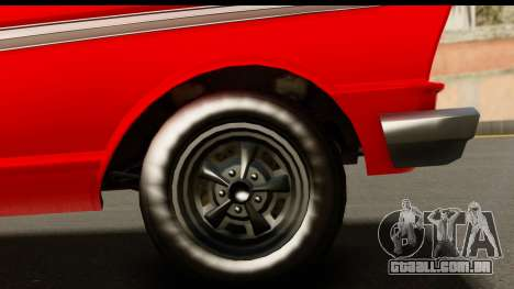 GTA 5 Vapid Blade v2 para GTA San Andreas vista traseira
