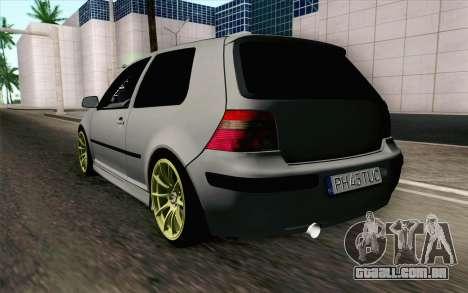 Volkswagen Golf Mk4 2002 Street Daily para GTA San Andreas esquerda vista