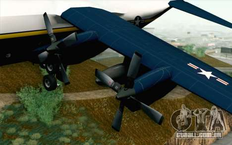 C-130H Hercules Blue Angels para GTA San Andreas vista direita