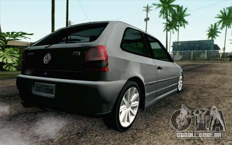 Volkswagen Golf GL para GTA San Andreas esquerda vista