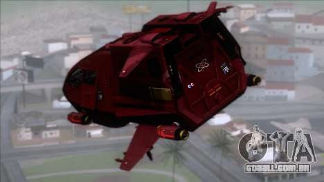 Shuttle v1 (no wheels) para GTA San Andreas esquerda vista