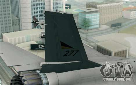 F-16 Fighting Falcon RNoAF PJ para GTA San Andreas traseira esquerda vista