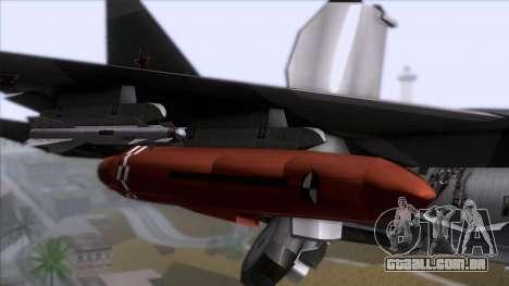 Sukhoi T-50 PAK FA Akula with Trinity para GTA San Andreas vista traseira