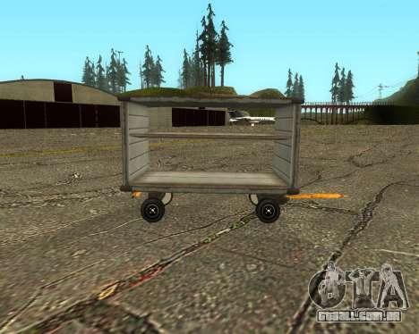 New Bagbox A para GTA San Andreas esquerda vista