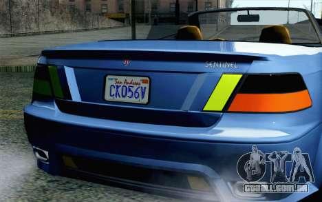 GTA 5 Ubermacht Sentinel Coupe SA Mobile para GTA San Andreas vista traseira