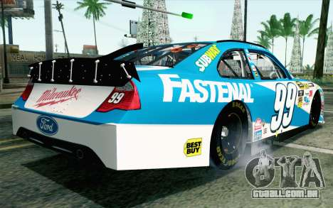 NASCAR Ford Fusion 2012 Plate Track para GTA San Andreas esquerda vista