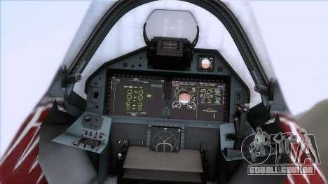 Sukhoi T-50 PAK FA Akula para GTA San Andreas vista traseira