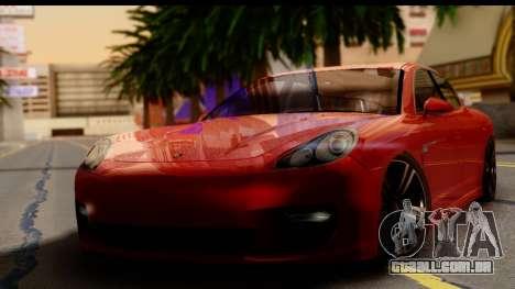 Porsche Panamera Turbo para GTA San Andreas traseira esquerda vista