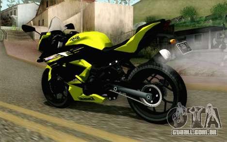 Kawasaki Ninja 250RR Mono Yellow para GTA San Andreas esquerda vista