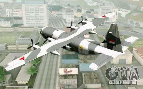 Lockheed C-130 Hercules Indonesian Air Force para GTA San Andreas esquerda vista
