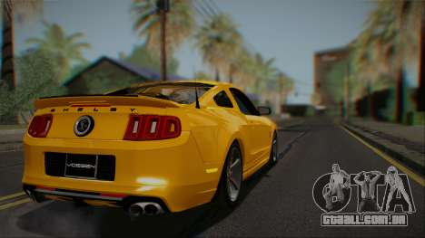 Ford Shelby GT500 2013 Vossen version para GTA San Andreas vista direita