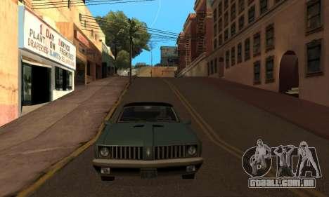 Alteração de áreas de gangues e suas armas v1.1 para GTA San Andreas quinto tela