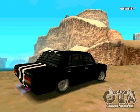 VAZ 2107 CÓLICAS para GTA San Andreas vista traseira