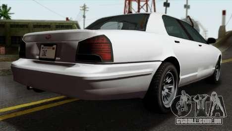 GTA 5 Vapid Stanier II SA Style para GTA San Andreas esquerda vista