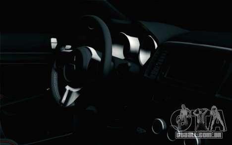 Mitsubishi Lancer X para GTA San Andreas vista direita